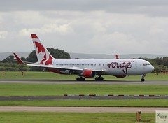 Air Canada Rouge B767-333ER C-FMWQ taxiing at MAN/EGCC (AviationEagle32) Tags: manchester man manchesterairport manchesteravp manchesterairportatc manchesterairportt1 manchesterairportt2 manchesterairportt3 manchesterairportviewingpark egcc unitedkingdom uk cheshire ringway ringwayairport runway runwayvisitorpark airport aircraft airplanes apron aviation aeroplanes avp aviationphotography avgeek aviationlovers aviationgeek aeroplane airplane planespotting planes plane flying flickraviation flight vehicle tarmac aircanada aircanadarouge staralliance boeing boeing767 b767 b767300er b767300 b767333er b763 b763er cfmwq winglets