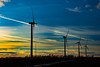 As The Sun Starts To Set (Images by MK) Tags: windmill wind windturbines windturbine sky skyline colorful cold colors color winter sunset vaportrails sundog horizon clouds wisconsin wi montfortwi energy windfarm lines