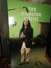 The Disaster Artist - Movie Poster Standee NYC 5001 (Brechtbug) Tags: the disaster artist movie poster standee james franco aspiring filmmaker infamous hollywood outsider tommy wiseau director cult film room from 2003 a study alternate reality making johnny successful banker happy his san francisco townhouse with fiancee lisa must deal her seduction best friend mark theater lobby amc loews 34th st nyc 2017 new york city 12162017 december