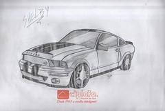 Mustang Shelby (Ábnna_Dahya) Tags: draw sketch car mustang drawing fanart