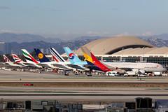 Tom Bradley International Terminal | Los Angeles International (Dennis HKG) Tags: losangeles klax lax a380 airbus airbusa380 aircraft airplane airport plane planespotting canon 7d 100400