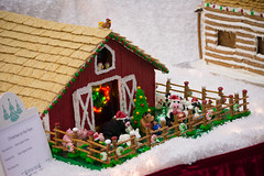 on the farm (raspberrytart) Tags: festivaloftrees christmas gingerbread gingerbreadhouse gingerbreadcookie cookie candy decorating nikon d7100