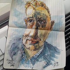 Michael Sellar pour #JKPP #sketch #portrait (dege.guerin) Tags: instagramapp square squareformat iphoneography uploaded:by=instagram