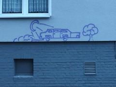 Elon Musk was here (mkorsakov) Tags: dortmund nordstadt hafen graffiti tagging wand wall wtf car auto strange seltsam krakelei
