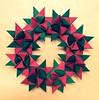 Frobel star/ German star wreath (mimansaorigami) Tags: origami stars traditionalorigami 8pointedstar christmas wreath paperfolding symmetry geometry germanstar frobelstar
