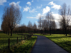 Light and shadows in the dutch landscape (STEHOUWER AND RECIO) Tags: dutch landscape scenery view grass light shadows shadow trees bomen gras green groen clouds cloud sky blue netherlands nederland holland path fence hill uitzicht heuvel photo photography capture image