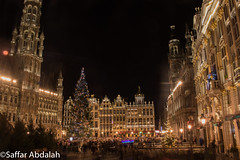 Let There Be light-Grand Place,Brussels (abdalah_saffar) Tags: belguim belgique brussels bruxelles night nightshooting light lowlight lowexposure canon canon7dmarkii canon7dmii longexposure art tourism beautiful raining photography 31decamber newyearseve