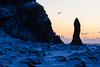 Welcome (Daniel Moreira) Tags: reynisdrangar reynisfjara beach basalt columns raven snow mountains sea sunrise car park iceland icelandic ísland islândia islande islanda
