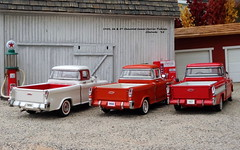 1955, 56 & 57 Chevrolet Cameo Carrier Pickups (JCarnutz) Tags: cameocarrier diecast franklinmint danburymint 1955 1956 1957 chevrolet pickuptruck