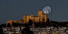 luna llena al amanecer (castillo de Vélez Blanco) (pedrojateruel) Tags: vélez blanco castillo luna llena amanecer andalucía almería