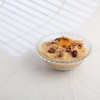Rice pudding dessert with dried mango and cranberry granola garnish. (annick vanderschelden) Tags: glass yellow orange cookie chocolate crumbs rice cornstarch food dessert culinary cooking milk carnation spoon dessertspoon bowl decorative garnish cranberry raisin chia oatflakes sunflowerseeds maplesyrup rapeseedoil milletflakespumpkinseeds cashewnuts quinoa linseed puffedamaranth belgium