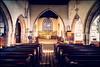 St Giles' church, Hartington (G. Postlethwaite esq.) Tags: derbyshire hartington longdale nationalpark peakdistrict sonya7mkii sonyalphadslr stgiles aisle altar arches church fullframe mirrorless pews photoborder pulpit stainedglass window winter