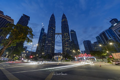 Petronas Twin Towers, December 2017 (Nur Ismail Photography) Tags: architecture asia asian blue building business capital center city cityscape commercial corporate district exterior landmark landscape malaysia malaysian modern night office park petronas scape scene shopping sky skyline skyscraper structure tall towers town travel twin urban view