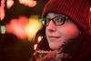 Holiday Season. (Jovan Jimenez) Tags: holiday season people winter hat girl sony alpha a6500 6500 metabones speedbooster optical bokeh night zoo lights christmas nikkor nikon 50mm f12 focal reducer chicago xmas square shape glasses portrait woman 2017 cap bokehshape squarebokeh focalreducer nex emount fmount f095 ultra cinematic