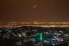 Moon set above the city lights (barak.shacked) Tags: שקיעתהירח שקיעתירח כפר לבנה ירחקטן moon smallmoon village luban ירחשוקעמעללובאן mosque islam
