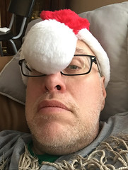 Day 2184: Day 359: Nap time (knoopie) Tags: 2017 december iphone picturemail christmas santahat doug knoop knoopie me selfportrait 365days 365daysyear6 year6 365more day2184 day359
