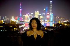 BX6I1569 (mika #) Tags: china shanghai night girl woman sensual canon 1dx 1dxmarkii 24x36 24mm 14 color waitan bund pearl tower dark digital grain