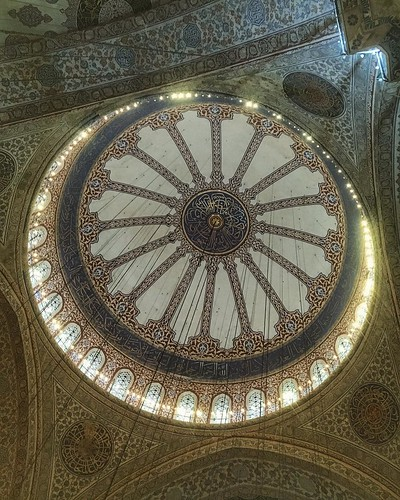 The Blue Mosque (Called Sultanahmet Camii in Turkish) was built by Sedefkar Mehmet Aga in the sultan 1. Ahmet's time between (1609-1616) years. It is located on the site of the Great Palace of Byzantium, on the southeastern side of the Hippodrome. It is c