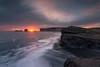 Sun (Caramad) Tags: dyrhólaey kirkjufajara iceland red sunset landscape dawn sun sky water coast wave beach ocean