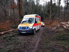 work in mud (Paramedix) Tags: wald ems rettungsdienst ambulance rettungswagen drk emergency germany deutschland badenwürttemberg bluelight