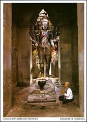 postcard - Angkor Wat, Cambodia 5 (Jassy-50) Tags: postcard angkor angkorwat temple siemreap cambodia angkorarchaeologicalpark khmer archaeology ancient ruins unescoworldheritagesite unescoworldheritage unesco worldheritagesite worldheritage whs buddhistmonk buddhist monk people buddha