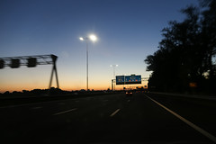 A2 Amsterdam (Netherlands) (Meteorry) Tags: europe netherlands holland nederland paysbas noordholland amsterdam duivendrecht autoroute highway freeway snelweg autostrada autopista road roadtrip route dutch evening soir sunset coucherdusoleil bluehour motion blur signs panneau traffic circulation lastphoto june 2017 meteorry