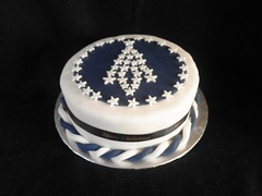 Chocolate Christmas Cake (terencepkirk) Tags: cake desserts delicious chocolate christmas food fondant tree stars white blue