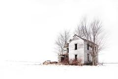Forsaken (Jon Dickson Photography) Tags: winter cold snow snowy abandoned farmhouse decrepit