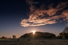 Midwinter sunrise at Dowth (mythicalireland) Tags: sunrise rising sun morning dawn winter midwinter sky clouds cloud landscape dowth monument megalithic chambered cairn passagetomb boyne valley meath brú na bóinne ireland