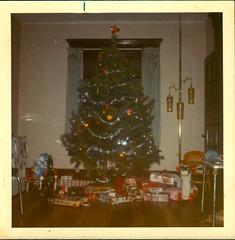 1972 ish Christmas Tree (rumimume) Tags: potd rumimume niagara ontario canada photo paper print scan filmchristmas december25 holiday celebration 19070 family kids tree horse toy gifts garland past