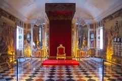 Knight Hall (b16dyr) Tags: denmark copenhagen rosenborgcastle rosenborgcastlemuseum rosenborgmuseum throne canopy chequeredfloor