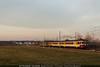 Belghe alle ultime luci... (EuroStar483) Tags: treni ferrovie gtt belghe belgian emu emus doppia doppietta livrea inox 1954 1956 exsncb ale054 06 ale056 09 ale05406 ale05609 borgaro torinese prato tramonto ultime luci velature linea torinoceres torino dora germagnano treno 45 salita transito autunno ferrovia zug zuge local locale privata