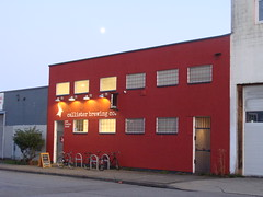 Moon Over Callister (knightbefore_99) Tags: moon callister eastvan local bar pub beer craft cool best lune sky blue azul awesome bc west coast