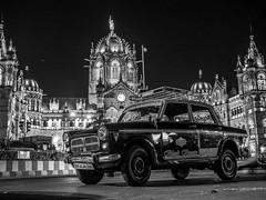 LR Mumbai 2015-628-2 (hunbille) Tags: birgittemumbai4lr india mumbai bombay chhatrapati shivaji terminus chhatrapatishivajiterminus cst station victoriaterminus victoria victoriastation train railway gothic architecture taxi car challengeyouwinner cyunanimous