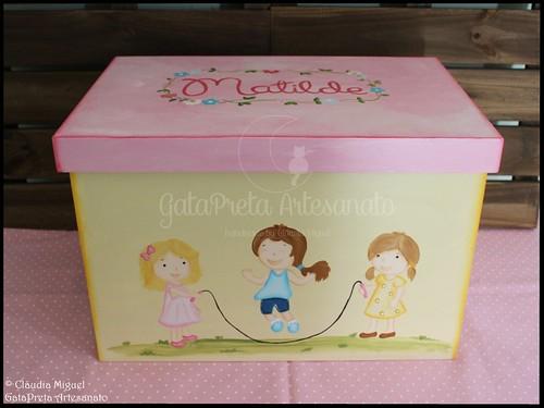 """Caixa de arrumação de dossiers e brinquedos """"Jardim Infantil"""""""