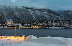 Tromso Harbour 10.30 a.m.  December 2015 (keithhull) Tags: tromso norway arctic december 2015 winter harbour fiord