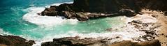 000238780019-Pano (muffe3) Tags: hawaii contax t2 portra 400 38mm sonnar carl zeiss beach landscape oahu blowhole blow hole plus creeck potra kodak film analog