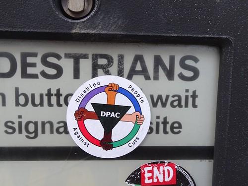 Sticker, Commercial Street, Pontypool 23 December 2017