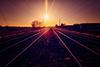 Parallel Lines (362/365) (iratebadger) Tags: nikon nikond7100 train tracks lines lightroom dark d7100 sky silhouette shadows sunset winter distance yorkshire york tamron1024mm tamron iratebadger project365