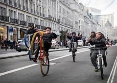 East meets West (XBeauPhoto) Tags: bmx centrallondon london regentstreet wheelies bikers boys carefree city citylife cyclists fun gang gangculture urban