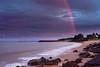 Double Rainbow @Dundee Beach (jrazarcon) Tags: nikond810 sigma 35mm f14 dg hsm arts australia nt northernterritory john azarcon jrazarcon landscape sunrise beach dundee water sea rocks rainbow outdoor trees leefilters cpl storm clouds