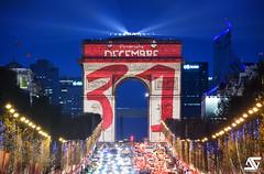 Happy New Year (A.G. Photographe) Tags: happynewyear2018 2018 anto antoxiii xiii ag agphotographe paris parisien france french français europe capitale d810 nikon nikkor sigma 150600 arcdetriomphe champsélysées bluehour