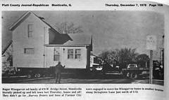 Roger & Brenda Wisegarver moves house, Monticello, IL, 1978-12-07 (RLWisegarver) Tags: piatt county history monticello illinois usa il