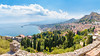 View over Taormina and the Mediterranean (rawyvandenbeucken) Tags: 2017 europe italy june mediterraneansea sea sicily taormina view vista water sicilia it img3611panolr80dsrgb panorama