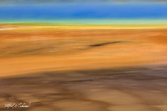 Grand Prismatic_27A0623 (Alfred J. Lockwood Photography) Tags: alfredjlockwood nature abstract blur grandprismatic geothermalrunoff geothermalpool color shapes patterns texture midwaygeyserbasin microbialmat yellowstonenationalpark wyoming summer morning