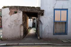 Texture (John Pettigrew) Tags: angles alley tamron d750 2470mm window growing urban car line alleyway decay wall yellow nikon wheel