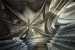 Ensnared by the Divine (Bokehneer) Tags: gothic historic old renaissance church cathedral romancatholic buttresses arches architecture architectural divine holy landmark famous detail wormseye columns masonry stone