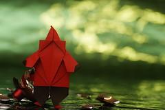 Santa (Florence Temko) (De Rode Olifant) Tags: origami marjansmeijsters marccooman davevenables theorigamiworldofnealelias nealelias paper paperfolding diagrams xmas christmas holidays florencetemko santa origamisanta santaclaus