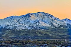 Squaw Butte With The Morning Glow (http://fineartamerica.com/profiles/robert-bales.ht) Tags: easternidaho emmett forupload gemcounty haybales idaho landscape mountain people photo places projects states sweet storm squawbutte farm rollinghills scenic idahophotography treasurevalley northamericanphotography clouds spring emmettvalley emmettphotography trees sceniclandscapephotography thebutte canonshooter beautiful sensational awesome magnificent peaceful surreal sublime sunrise glow inspirational wow robertbales town butte gem treasurevalleyyellow