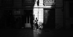 Emerging from the shadow... (elgunto) Tags: street model light shadows contrast valencia blackwhite silhouette monochrome bw sonya7 nikon2035 nikkor manuallense